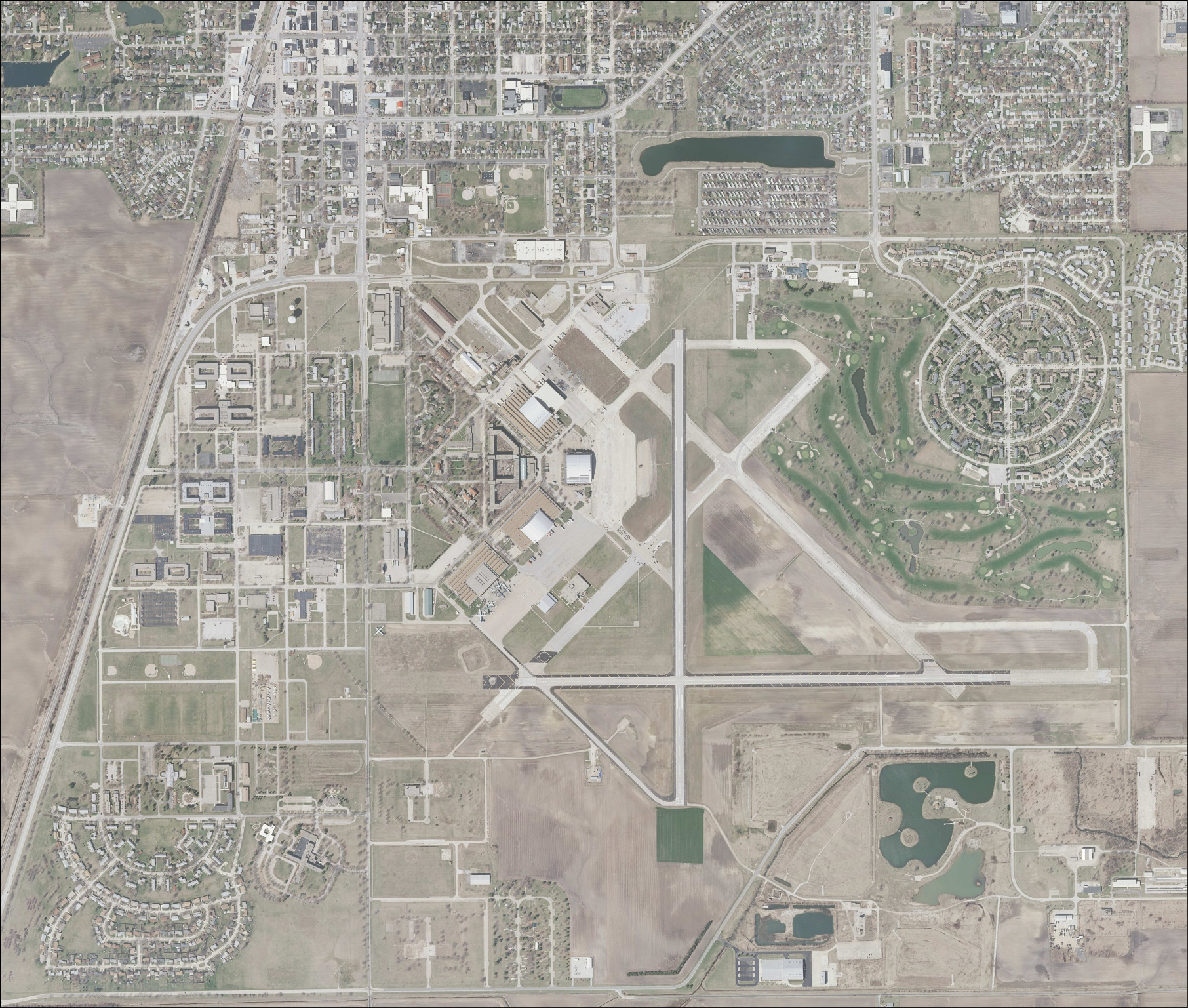 Overhead photo of Rantoul Airport
